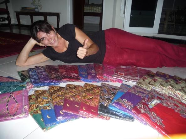 1er achat de tissus en batik imprime