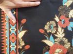 Détail du tissu batik UJ-15-BL
