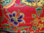 Tissu batik AB-OS1 rouge