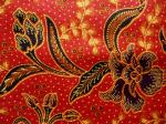 Tissu batik AB-POINT rouge