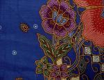 Sarong batik RJ-80248 bleu